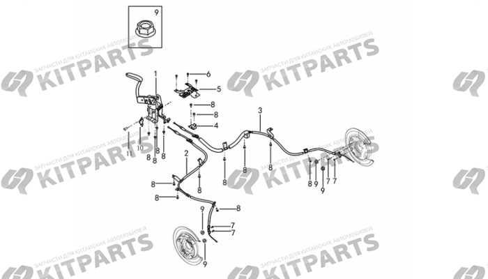 Рычаг стояночного тормоза (механика) DongFeng AX7
