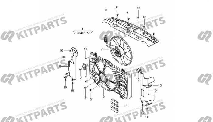 Вентилятор радиатора охлаждения двигателя DongFeng AX7