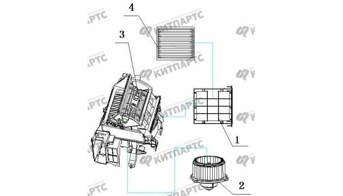 Вентилятор отопителя BYD F3 (F3R)