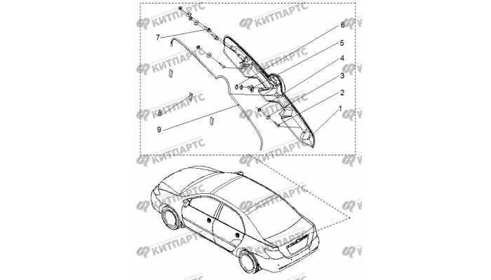 Молдинг крышки багажника BYD F3 (F3R)