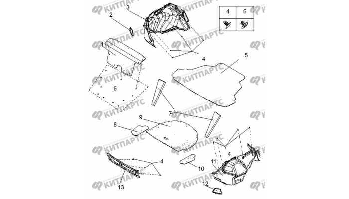 Обивка багажника BYD F3 (F3R)