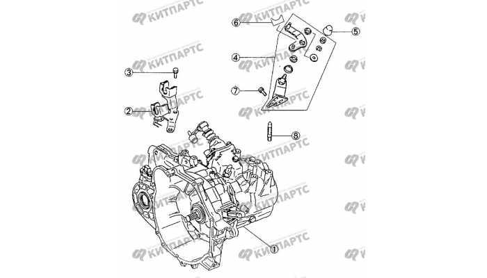 Кронштейны троса переключения передач BYD F3 (F3R)