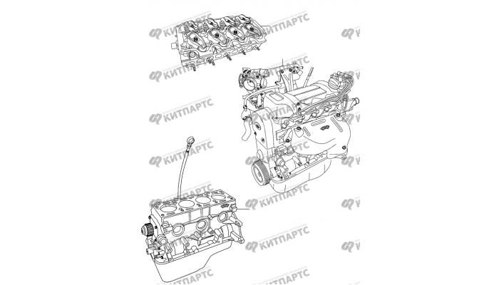 Двигатель в сборе Chery Amulet (A15)