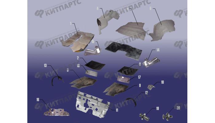 Элементы коврового покрытия Chery Fora (A21)