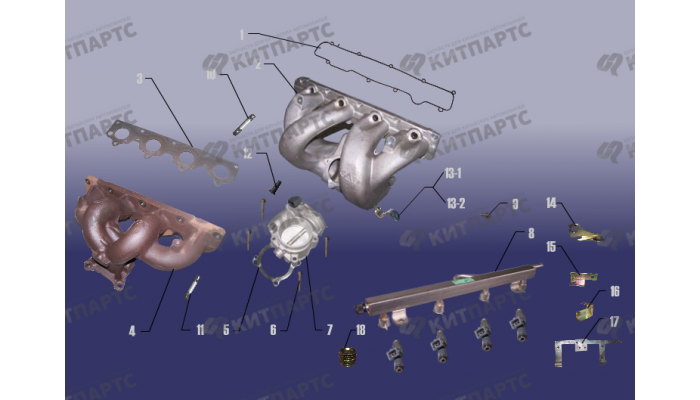 Впускная и выпускная система Chery Tiggo (T11)