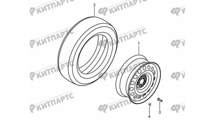 Колеса - штампованный диск DongFeng AX7