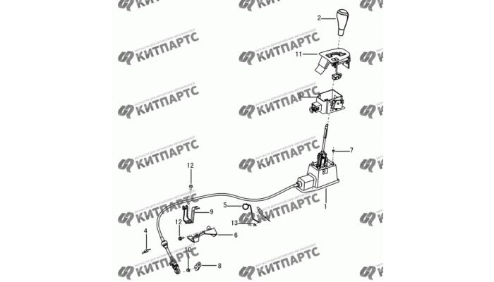 Механизм переключения АКПП Dong Feng S30