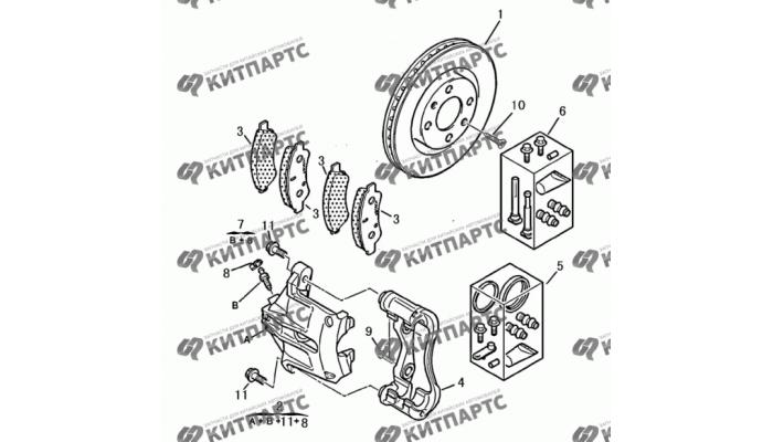 Тормозной механизм передний Dong Feng H30 Cross