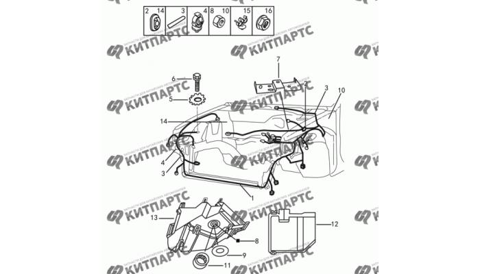 Жгут проводов моторного отсека Dong Feng H30 Cross