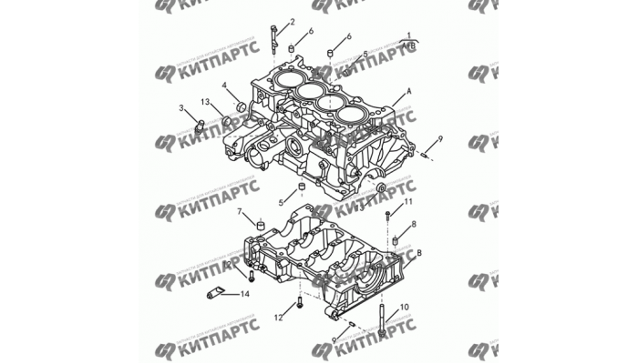Блок цилиндров S30 (E-Teco) Dong Feng S30