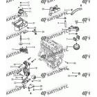 Подвеска двигателя с МКПП
