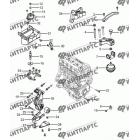 Подвеска двигателя с АКПП