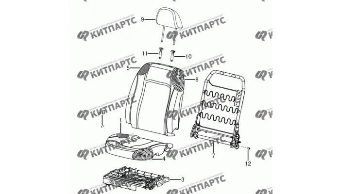Сиденье пассажира - механизмы Dong Feng H30 Cross