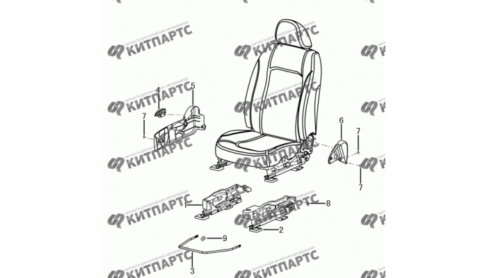 Сиденье пассажира - накладки и ручки Dong Feng S30