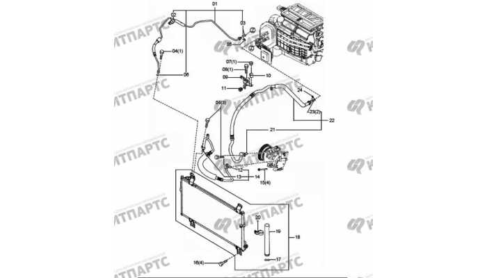 Трубки кондиционера FAW Besturn X80
