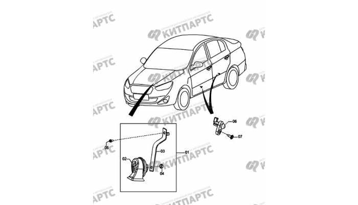 Door switch and horn FAW Oley