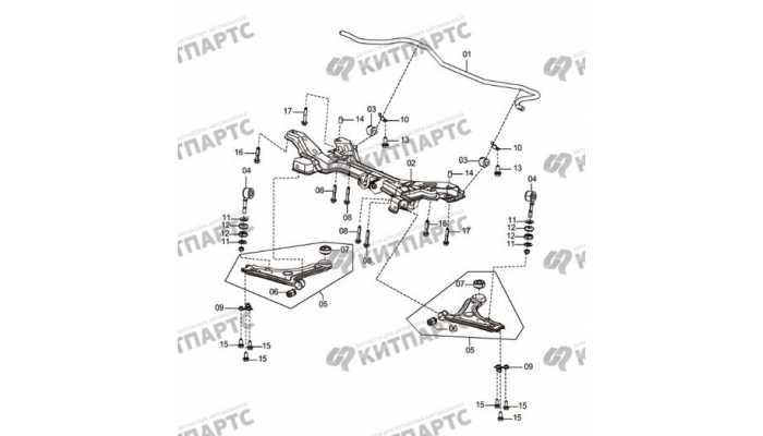 Front sub-frame and stabilizer bar-MT FAW Oley