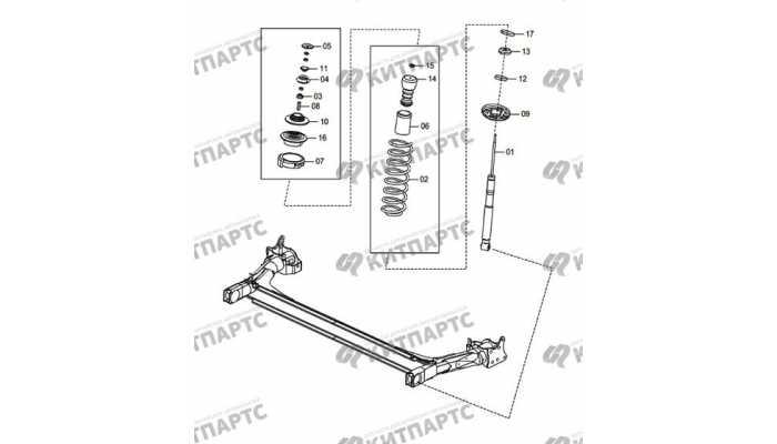 Rear sliding column assembly FAW Oley