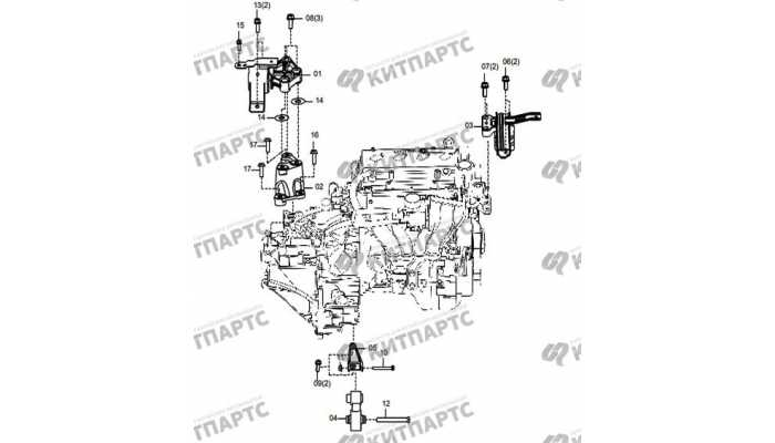 Подушки двигателя (МКПП) FAW Oley