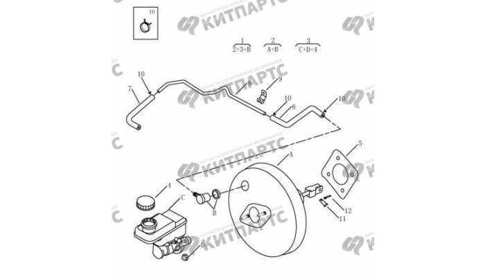 Цилиндр главный тормозной (4G20, 4G24, МКПП) Geely Emgrand EX7