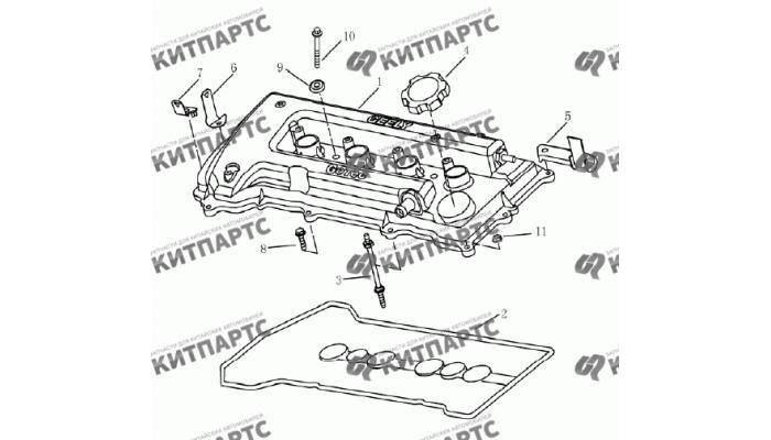 Клапанная крышка (1.5 L DVVT) Geely Emgrand (EC7)