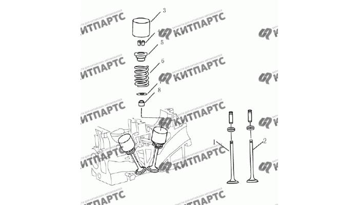 Клапан (1,8 L) Geely Emgrand (EC7)