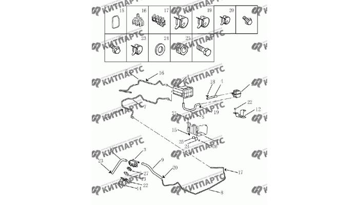 Адсорбер (1.5L DVVT) Geely Emgrand (EC7)