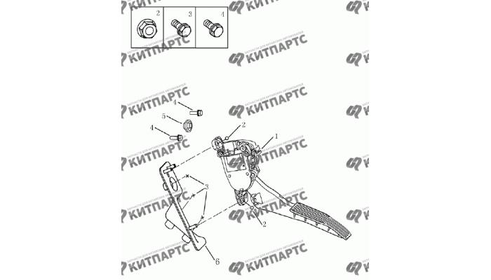 Педаль газа (электронная) Geely Emgrand (EC7)