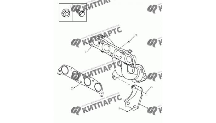Выпускной коллектор (1.8L) Geely Emgrand (EC7)