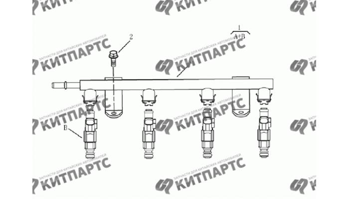 Форсунки топливные(1.5L DVVT) Geely Emgrand (EC7)