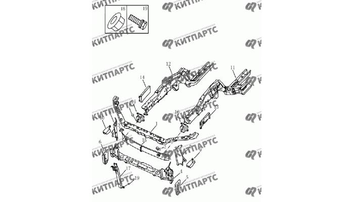 Комплектующие моторного отсека Geely Emgrand (EC7)
