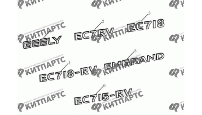 Эмблемы Geely Emgrand (EC7)