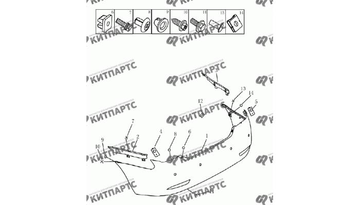 Бампер задний (седан) Geely Emgrand (EC7)