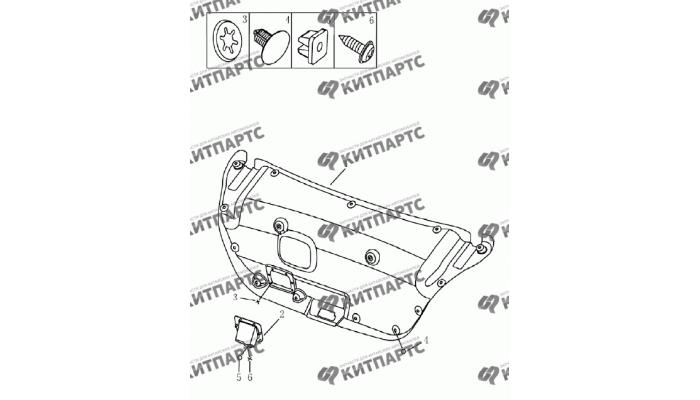 Обивка крышки багажника (седан) Geely Emgrand (EC7)