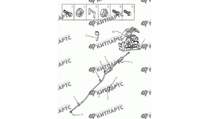 Механизм переключения передач Geely Emgrand (EC7)