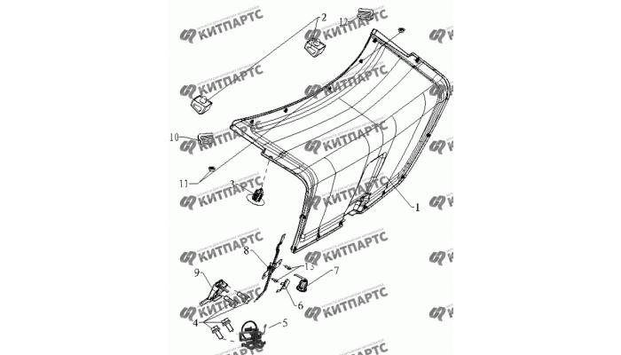 Отделка крышки багажника Geely MK